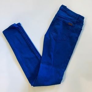 Joe's jeans skinny ankle blue colored jeans
